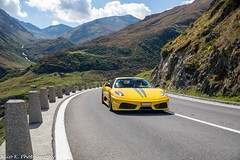 Scuderia Novitec Rosso (Nico K. Photography) Tags: ferrari 430 scuderia novitec rosso yellow supercars rare view mountains nicokphotography switzerland furkapass