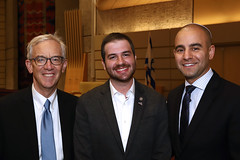 Phil Neuman, Rep. Jeremy Moss and David Kurzmann