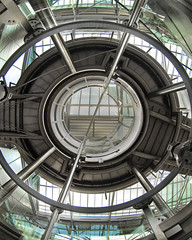 "The dO - ""Coda"" (ANOZER Photograffist) Tags: architecture lift airport germany allemagne deutchland ascensseur up circles cercles structure interior cage staircase anozercreation anozer"