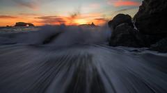 Crashing shore (Middle aged Nikonite) Tags: bodega bay arch rock sea ocean waves crashing sunset evening shore rocks sky nikon d750 outdoor landscape seascape nature