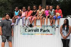 IMG_1967 (Philadelphia Parks & Recreation) Tags: carroll park dedication ribbon cutting playground play kids summer summertime laugh spray sprayground sprinkler jungle gym running laughing run playing new upgrades
