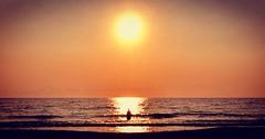 -Alone- (Roberto Rubiliani) Tags: pisa tuscany toscana tirrenia beach spiaggia people persone sunset tramonto estate summer water acqua sun sole robertorubiliani rubiliani