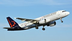 OO-SNI (AnDyMHoLdEn) Tags: brusselsairlines a320 staralliance egcc airport manchester manchesterairport 23l