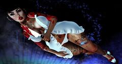 Single white female.. (Torrie' Fookernut) Tags: suicidedollz mooh boubouki norush mooloo tattoo piercings knife blood secondlife avatar virtual world psycho lingerie color 3d shape curves bbk