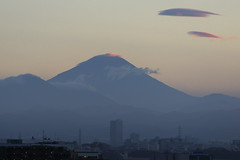 Mt.Fuji in Evening Twilightdusk (seiji2012) Tags: 富士山 国立市 シルエット 雲 moutain dusk cloud evening kunitachi