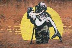 Street Art (kayleighclarke7) Tags: street art belfast grafitti mermaid diver brickwall ireland northernireland visitni visitireland portra pentax k1000