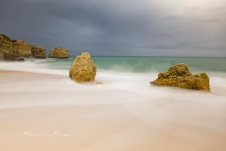 Playa de San Rafael (Algarve ) Portugal .