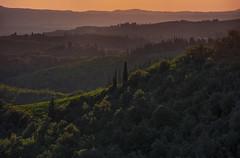 Chianti bright hills (Giovanni Stengel) Tags: tramonto toscana chianti campagna paesaggio cipressi imbrunire landscape tuscany travel manual focus telephoto summer sunset nikond5200 nikon 200mm crepuscolo nightfall