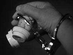 Prescribed (brandoninidaho1979) Tags: pills pill prescribed prescription usa americana america blackwhite druguse drugabuse drugs pillbottle addiction addictive handcuff trapped