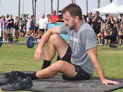 Resting After AMRAP (Chris Hunkeler) Tags: manmalealthlete macho shorts legs hunk handsome masculine guapos tired