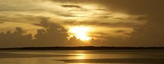 Ft DeSoto Rainy Sunset 8-28-2018 Panorama (dbadair) Tags: outdoor seaside shore sea sky water nature wildlife 7dm2 ocean canon florida ft desoto sun sunset dusk evening twilight