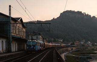 Moody Elbe valley