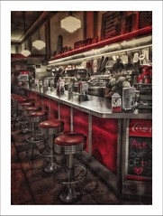 Nostalgia (elsa.brenner) Tags: counter woolworth's red lunchtime memories nostalgia