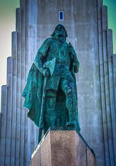 Hallgrimskirkja and Leifur Eiriksson Statue - Reykjavík Iceland (mbell1975) Tags: reykjavík iceland is hallgrimskirkja leifur eiriksson statue island ísland icelandic sculpture monument