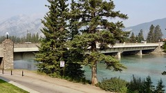 Bow River Bridge and Fir Trees, Banff, Alberta, Canada (dannymfoster) Tags: canada alberta banff park nationalpark banffnationalpark bowriver bowriverbridge