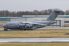 10-0218 C-17A USAF Prestwick 27.03.18 (Robert Banks 1) Tags: 100218 00218 boeing c17 c17a globemaster iii usaf prestwick egpk pik mcchord 62 446 aw wing amc mobility command