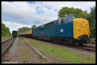 No 55019 Royal Highland Fusilier 9th Sept 2018 Great Central Railway Diesel Gala