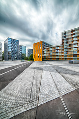 Chasseveld Breda (2) (PaulHoo) Tags: hdr chasseveld breda architecture buidling square pattern texture yellow 2018 city urban cityscape clouds contrast chasse chassepark