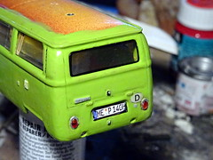 1:43 Volkswagen T2 Westfalia Berlin (Premium Classixx die cast model conversion) (dizzyfugu) Tags: 143 volkswagen vw t2 t2a t2b westfalia camper classixx diecast die cast model car toy conversion green custom build modellbau dizzyfugu