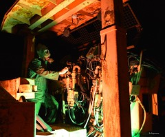 They Only Appears At  Night In The Zone (Bo Ragnarsson) Tags: thezone pripyat chernobyl gasmask nuclear biohazard stalker fallout metro cosplay industrial night nightshot operator nighthours twilight boragnarsson apocalypsedeacadence