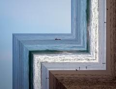 Tilting Horizons (felipemorin) Tags: surreal surrealism surrealist sea boat horizon beach seagulls photomanipulation photoshop lightroom sky seaside water
