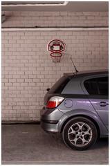 Basketball (Celtis Australis) Tags: pentaxk50 smctakumar50mmf14 wall car basket garage brick tubes urban