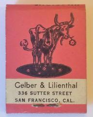 CELBER & LILIENTHAL SAN FRANCISCO CALIF (REAR-MIDGET) (ussiwojima) Tags: ferdinand celberlilienthal bestseller sanfrancisco california advertising midget matchbook matchcover