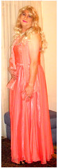 salmon ballgown (Martina H.) Tags: salmon orange coral gown dress ball party woman girl blonde cocktail