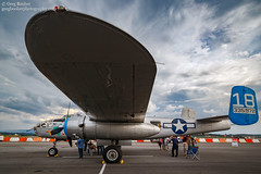 B-25 Maid in the Shade (Greg Booher) Tags: b25 bomber tricitiesairport blountvile tn caf commemorativeairforce mitchell b25j airplane