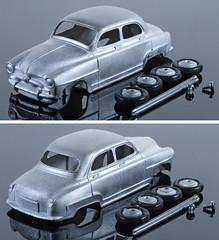WMC-Dinky-F-24U-Aronde (adrianz toyz) Tags: simca aronde diecast white metal toy model car france dinky toys copy 24u