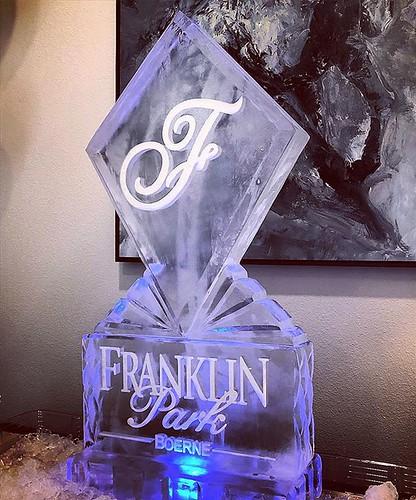 Congratulations to @franklinparkbeorne on their #grandopening yesterday! #fullspectrumice #icesculpture #logo #thinkoutsidetheblocks #brrriliant - Full Spectrum Ice Sculpture