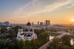 Orthodox Church in honor of the icon of the Mother of God in Vilnius old town (spot-on.lt) Tags: sunshine goldenhour landscape russia church water orthodoxchurch city dome lithuania morning drone oldtown travel orthodox vilnius cross europe temple neris autumn building old landmark cityscape capital culture zverynas unesco bridge znamenskoyeorthodoxchurch river cloudy religion sunny architecture historical sunrise tourism christianity town