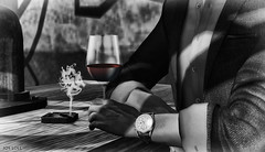 Red Wine (Jos Loll) Tags: red wine drinking bar watch smoke