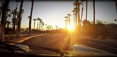 Morning - My Perspective (Spebak) Tags: spebak driving throughglass windshield sunrise palmtrees palms indianwells earlymorning gopro screengrab emptyroad
