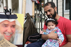 Hunger strike to save his dad. (alisdare1) Tags: hassanmushaima alimushaima hungerstrike hungerstriker bahrain bahrainembassy bahrainiembassy london humanrights democracy protest