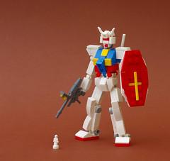 RX-78-2 Gundam (Tino Poutiainen) Tags: lego legomoc legobuild legography anime robot microscale moc machine mecha miniscale gundam gunpla mobile suit