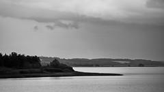 Mossø fra fugletårnet (malp007) Tags: sø sw monochrome blackwhite danmark denmark mossø landscape landschaft sky himmel naturfotografie nature aften lake water see
