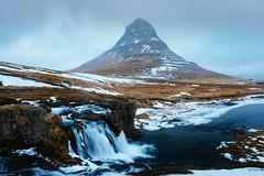 Kirkjufell in Winter (Marco Germinario) Tags: iceland island islanda mountain kirkjufell canon 5dmkiii 5d3 waterfall winter