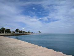 Lakeshore (ancientlives) Tags: chicago illinois il northavenuebeach beach lakemichigan lakefronttrail lakeshore walking jogging water lake pier bluesky clouds sunshine 2018 september friday summer