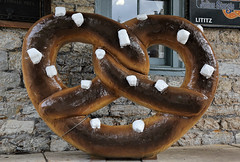 "Giant pretzel (Millie Cruz ""On and Off"") Tags: pretzel giant street bakery lititz pa stones photowalk outdoors canoneos5dmarkiii ef24105mmf4lisusm"