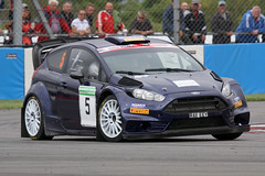 2012 Ford Fiesta WRC (RA11 EEY) 1600cc - Peter Smith - Dukeries Rally 2018 - Donington Park (anorakin) Tags: 2012 ford fiesta wrc ra11eey 1600cc petersmith dukeriesrally 2018 doningtonpark