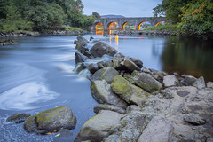 Crana river,Buncrana (jim2852) Tags: river bridge blue hour flow flowing stones illuminated slowshutter ireland donegal cranariver arch arches fishing game salmon seatrout dusk