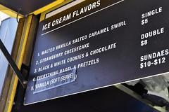 Ice & Vice Menu (jpellgen (@1179_jp)) Tags: newyork newyorkcity manhattan nyc ny food foodporn travel eastcoast usa america summer august 2018 nikon sigma 1770mm d7200 icecream icevice timessquare cone bagel menu