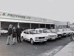 E G PRITCHARD RENAULT  MAIN DEALERS 1970s (Midlands Vehicle Photographer.) Tags: e g pritchard renault main dealers 1970s