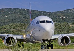 """JSI/LGSK: Smartwings (powered by """"Travelservice"""") Boeing B737-81H OK-TSS (Roland C.) Tags: airport skiathos greece airfield airliner aircrafrt"""