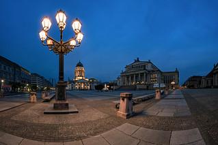 The Gendarmenmarkt in Berlin in the early morning