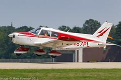 N67PL - 1967 build Piper PA-28-140 Cherokee, arriving on Runway 36L at Oshkosh during Airventure 2018 (egcc) Tags: 2822800 airventure airventure2018 cherokee eaa foreverflightservices hortonstolcraft kosh lightroom n4406j n67pl osh oshkosh pa28 pa28140 piper