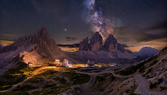 Milky Way over Tre cime (19MilkyWay89) Tags: landscape night sky milky way milchstrase sterne himmel nightsky nightscape italy dolomites