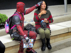 IMG_0254 (kennethkonica) Tags: streetphotography streets people candid old persons canonpowershot indianapolis indiana indy usa midwest america hoosier outdoor faces random global magazine deadpool cigarette costume couple