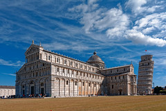 Pisa Cathedral with the Leaning Tower of Pisa (Pantchoa) Tags: pise italie cathédrale tour architecture nuages piazzadeimiracoli piazzadelduomo squareofmiracles toscane tourdepise